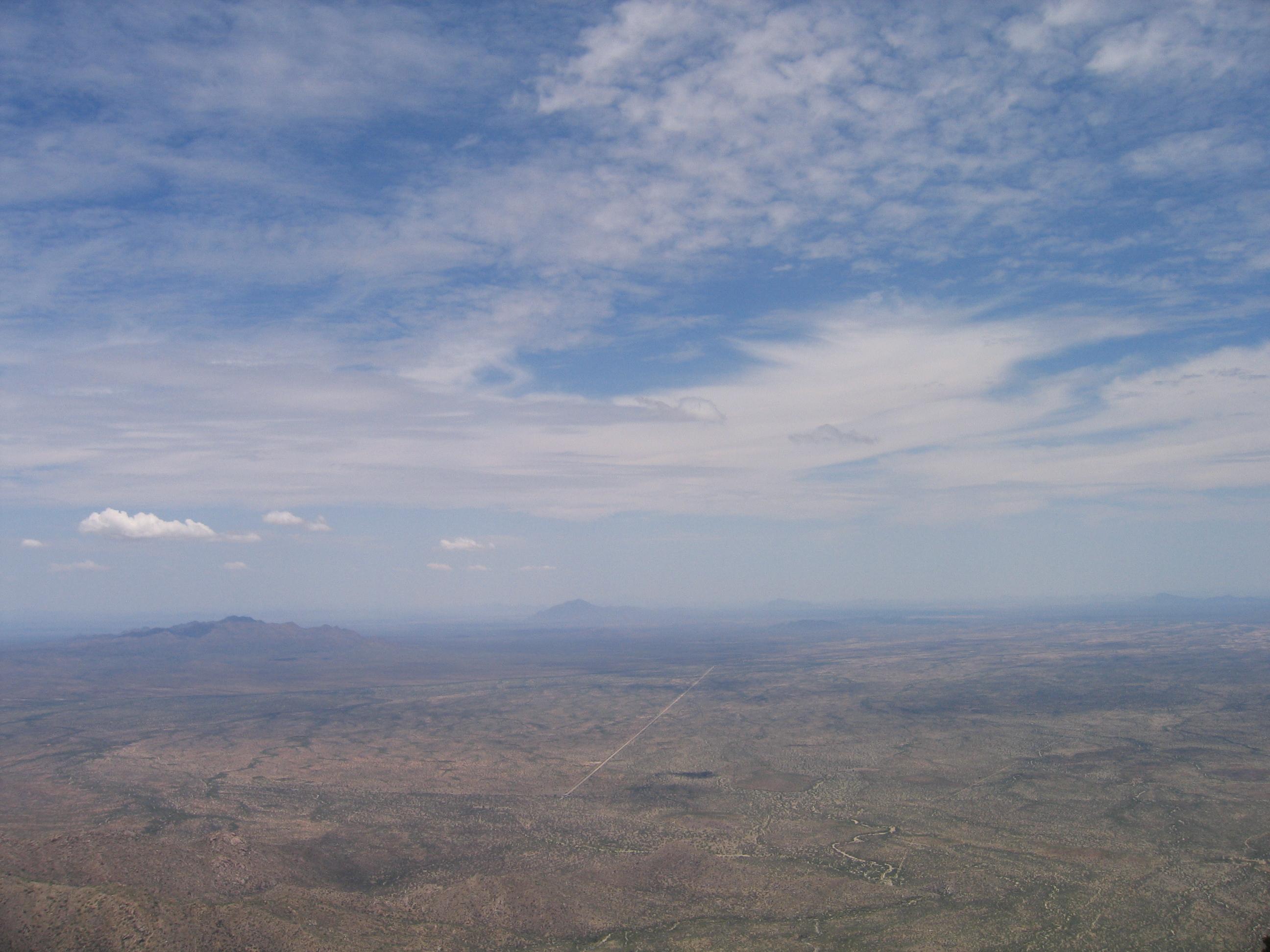Vista del deserto dal Kitt Peak