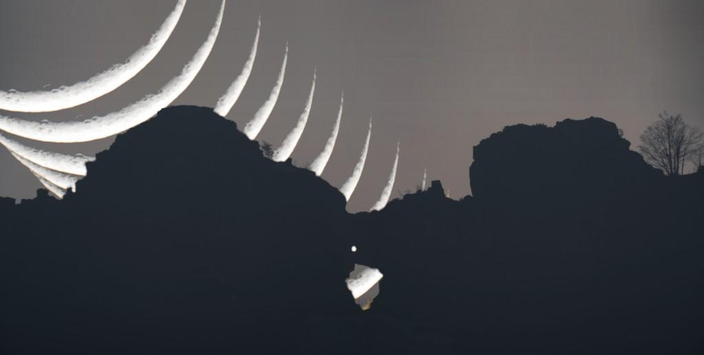 Fotocomposizione Luna e Priaforà