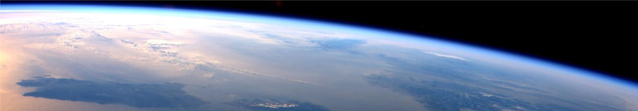Tramonto dalla ISS. Foto di Samantha Cristoforetti