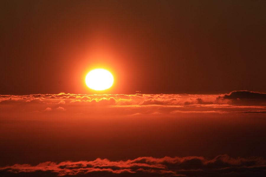 Sole poco prima del tramonto